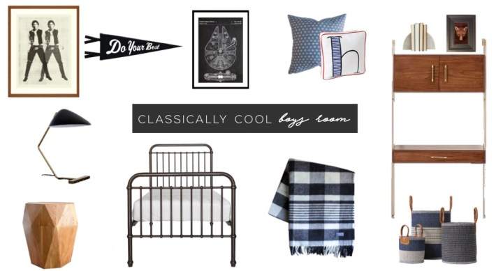 classically cool boys room