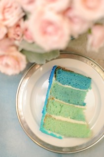 Even the inside of the cake was ombre