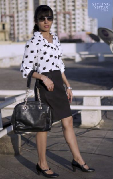 Black-skirt-anand-styling