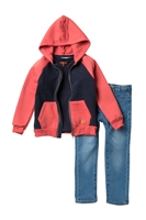 7 For All Mankind | Hoodie, Tee & Pants Set (Toddler Boys)