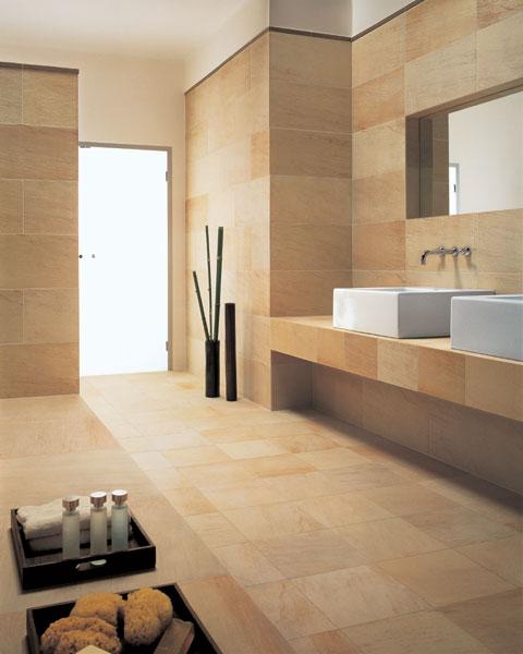 Badgestaltung Fliesen Aus Sandstein