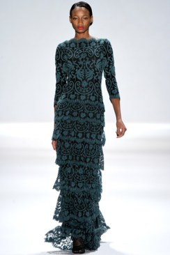 Dark and ornate teal- a tall statement.