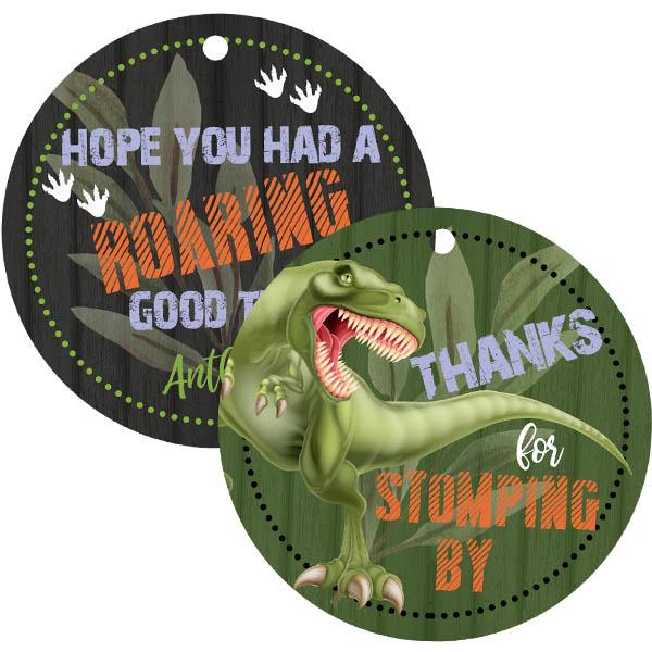 dinosaur gift tags