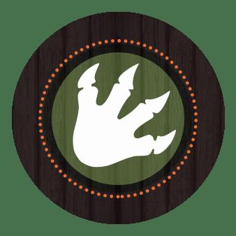 dinosaur footprint envelope seal