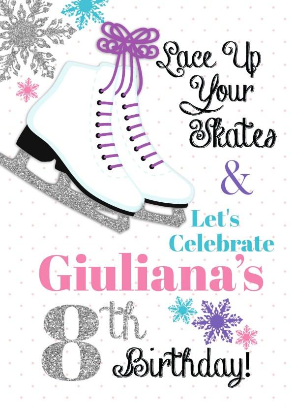 ice skate party invitation