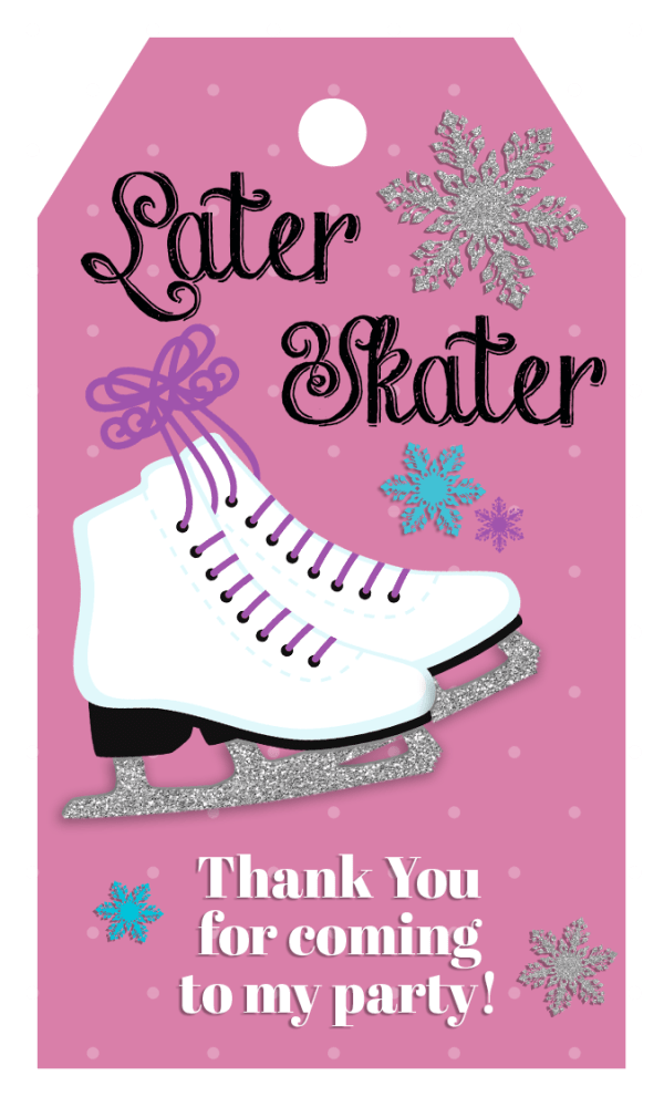 skate party gift tag