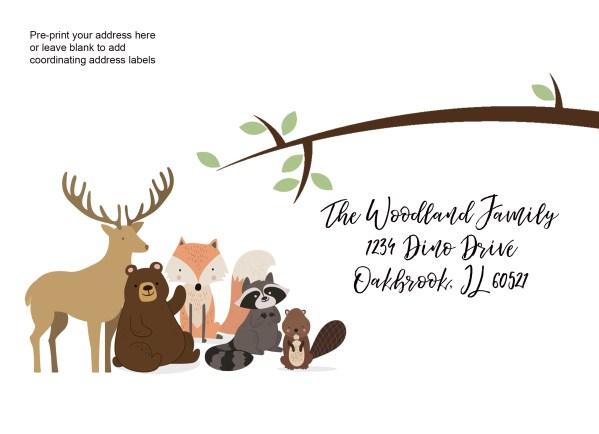 woodland animal printed envelope