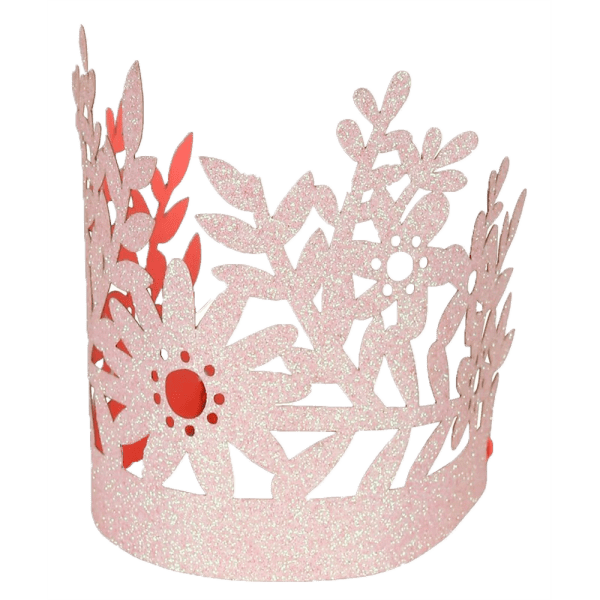 Pink Glitter Party Crown