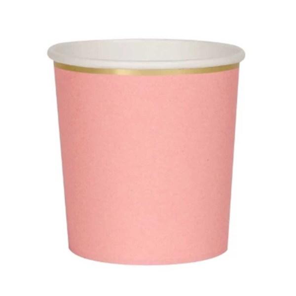 meri meri neon coral tumbler cup