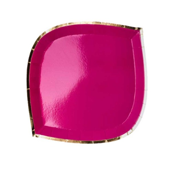 Hot Pink die cut paper plate