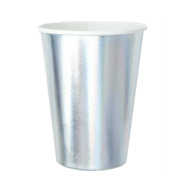 silver paper cup tumbler