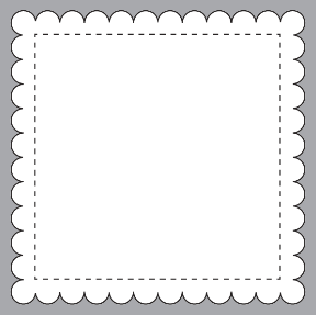 B2 Scalloped Square