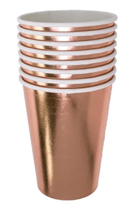 rose gold paper cup tumbler