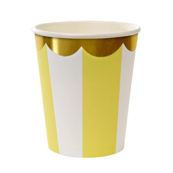 yellow fan stripe cup