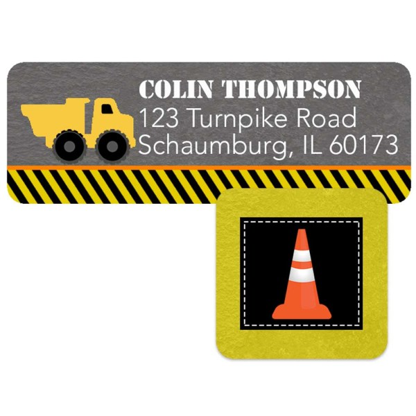 construction address label