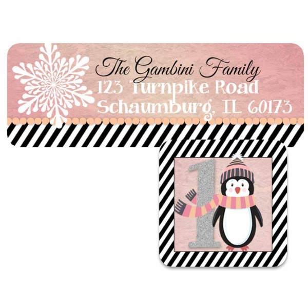 winter wonderland address label