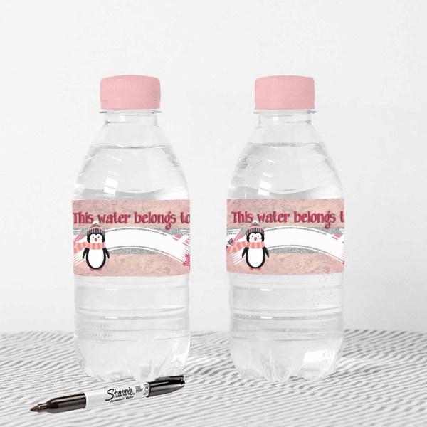 printable water bottle label