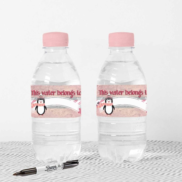 printable water bottle label