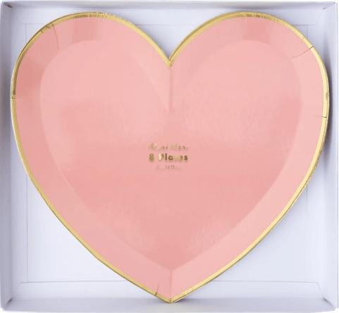 meri meri heart plates
