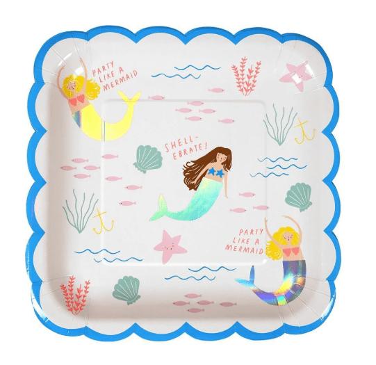meri meri mermaid plates