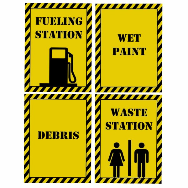 printable construction signs