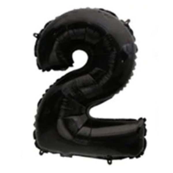 2 black mylar balloon