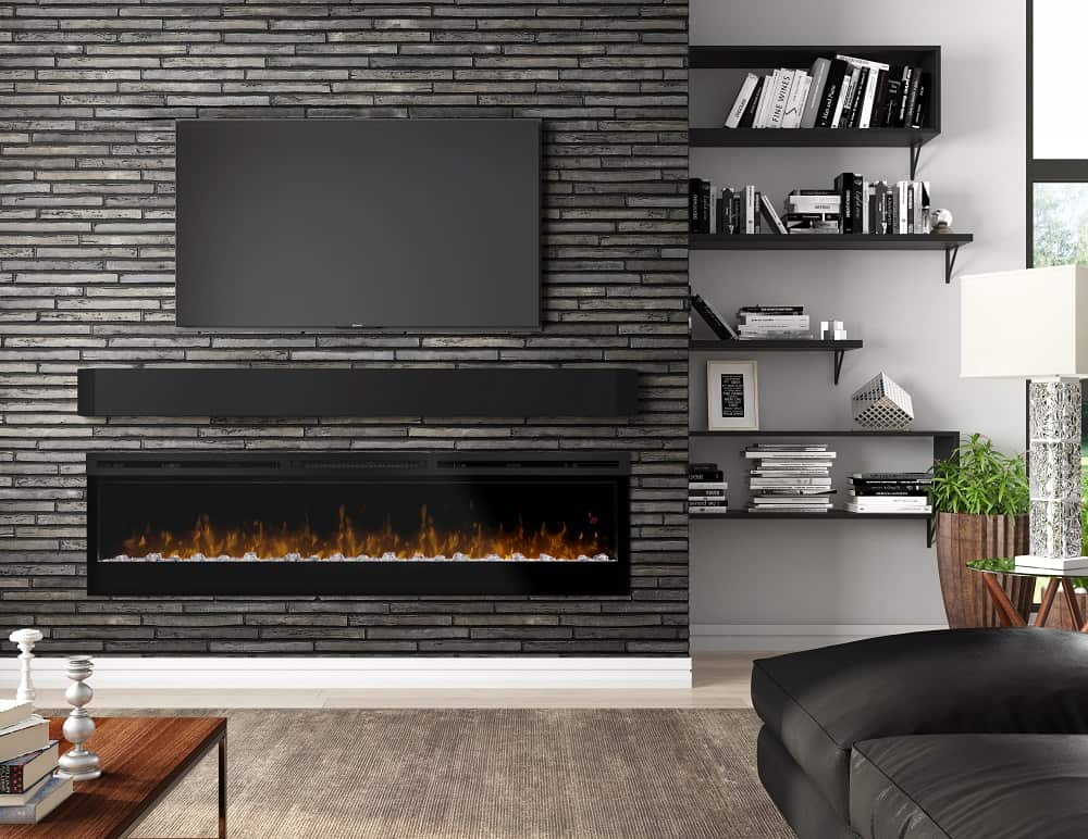 Modern Wall Mount Gas Fireplace For A Tv-friendly Fireplace, Go Electric | Stylish Fireplaces