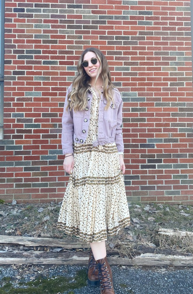 Maxi Dress with Dr. Marten Leona Boot