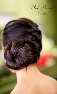 Side Braid Bun Hair Tutorial