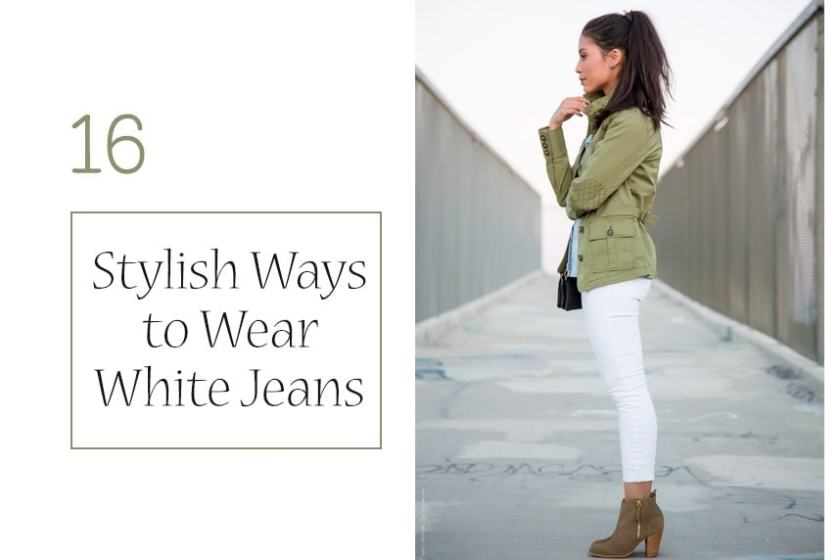 Stylish Ways to Wear White Jeans on stylishlyme.com