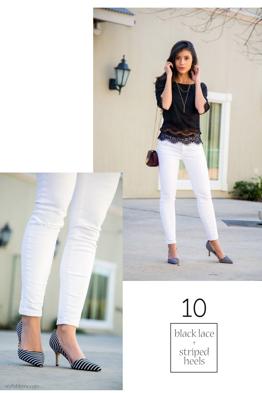 Black and white jeans outfit - 15 Stylish Ways to Wear White Jeans