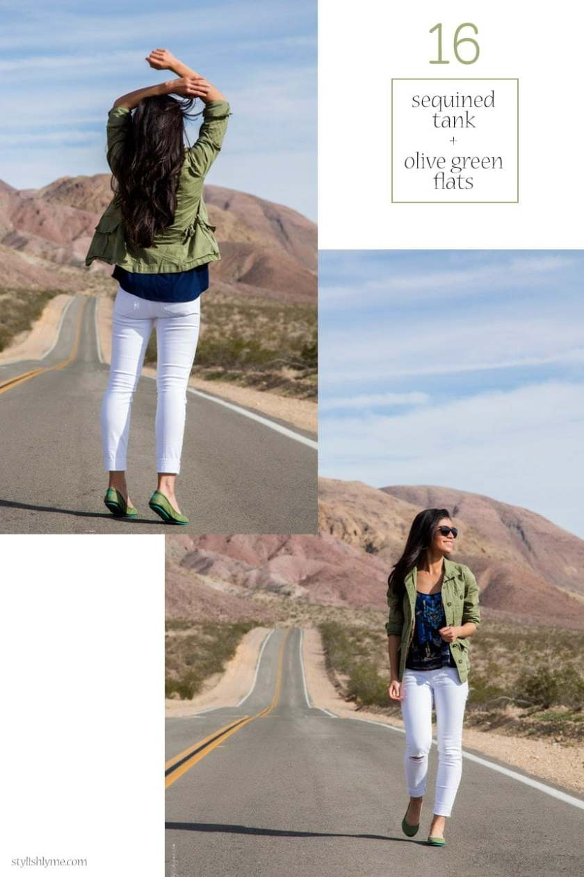 Casual white jeans road trip outfit - 15 Stylish Ways to Wear White Jeans