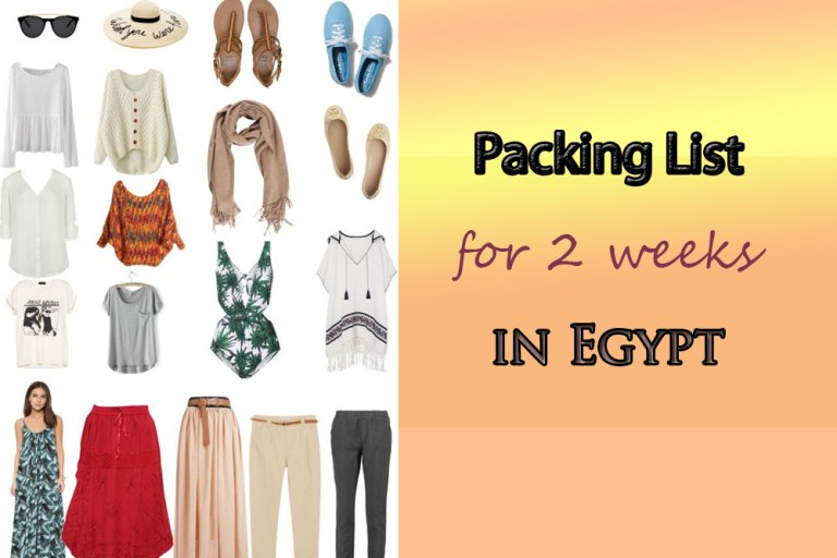 Female Packing List for 2 Weeks in Egypt Cover