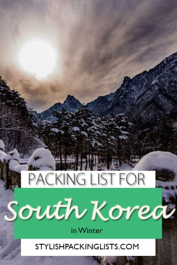 """""""South korea packing list"""", """"What to wear in Korea winter"""", """"snow in national park south korea"""""""