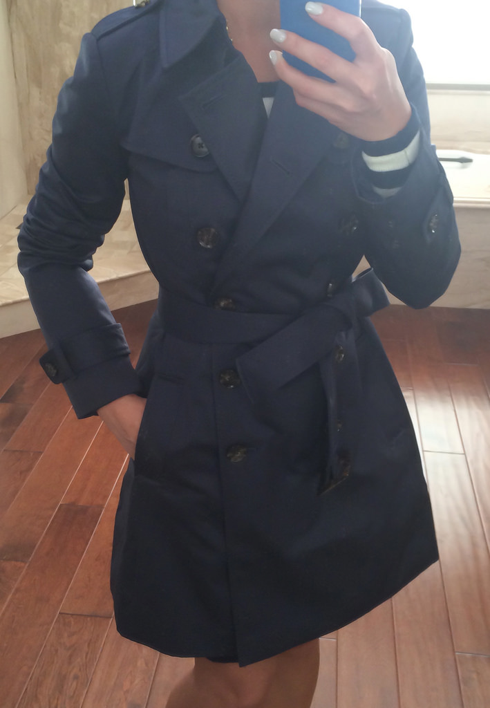Review Banana Republic Classic Petite Trench Coat and Halogen Suede Bow Pumps  Stylish Petite