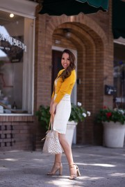 modcloth mustard cardigan f21 sweater