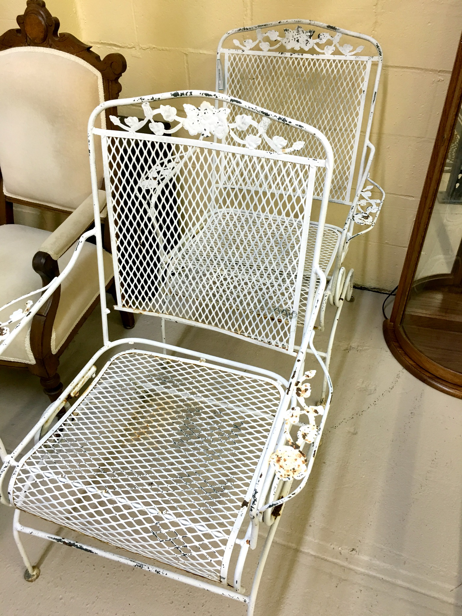 White Metal Chair Window Shopping At The Consignment Store Stylish Revamp