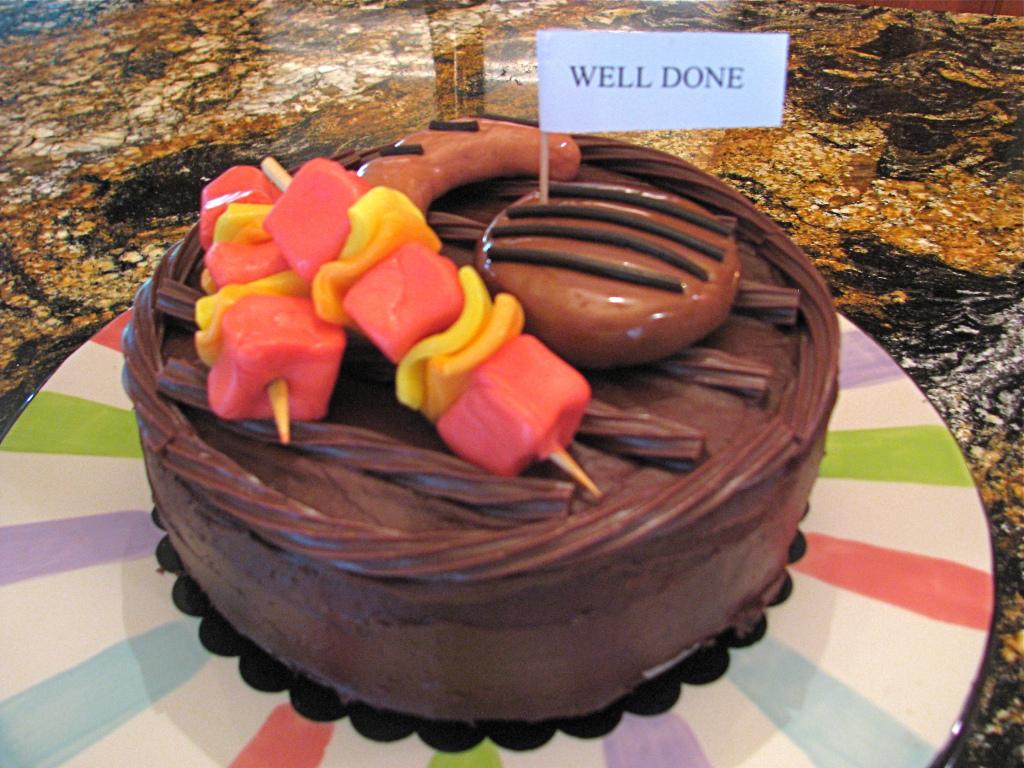 BBQ Grill Theme Cake Stylish Spoon