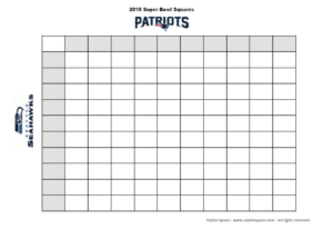 DIY  2015 Super Bowl Football Betting Squares Free Printable  Stylish Spoon