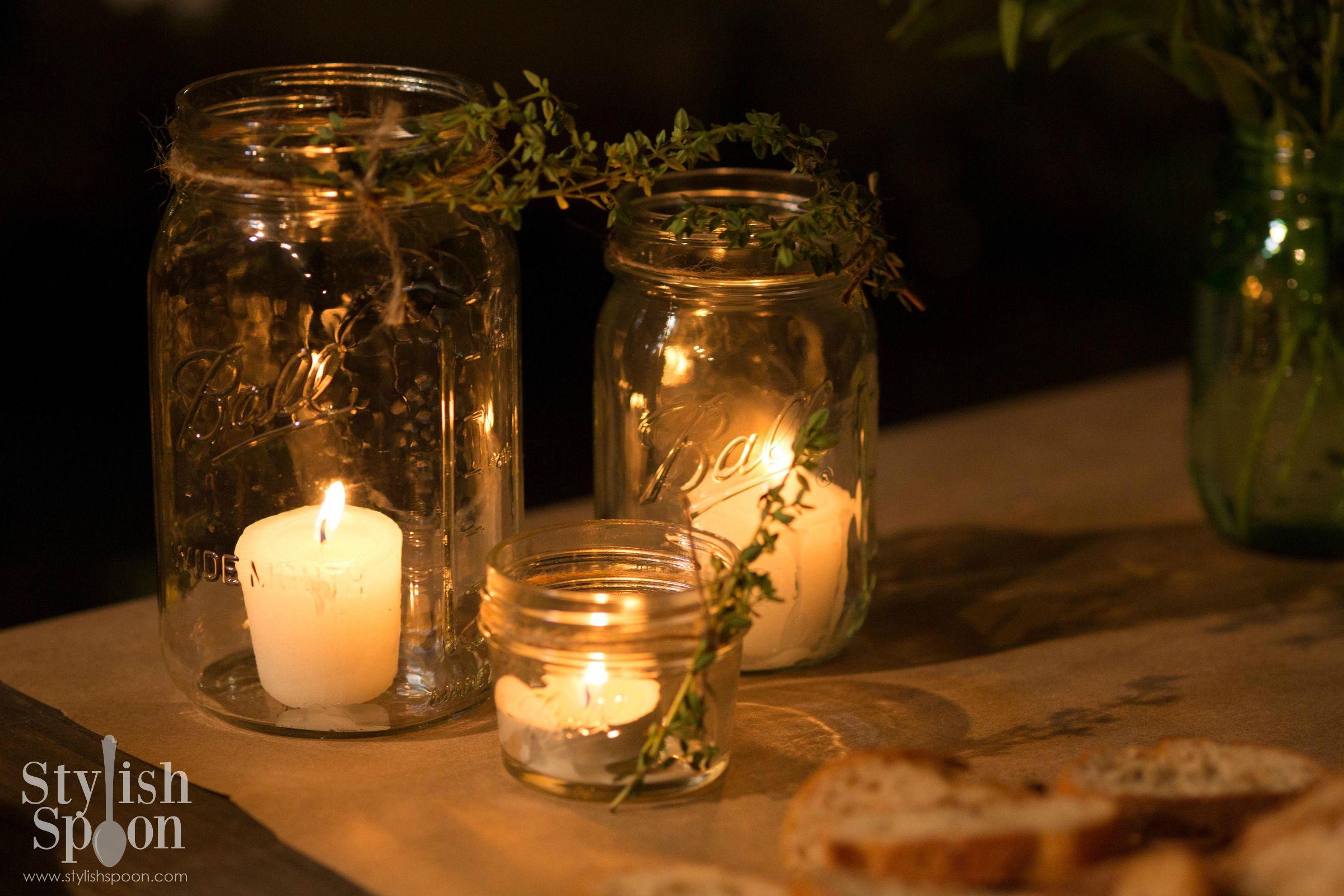 DIY Herb Mason Jar Candle Holders Stylish Spoon