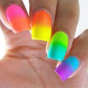 beautiful neon nails