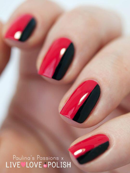 5 1 Ideas For Black And Red Nails