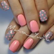 easy polka dot summer nail art