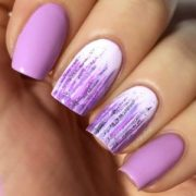 insanely hot purple nails design