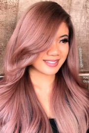 rose gold hair color