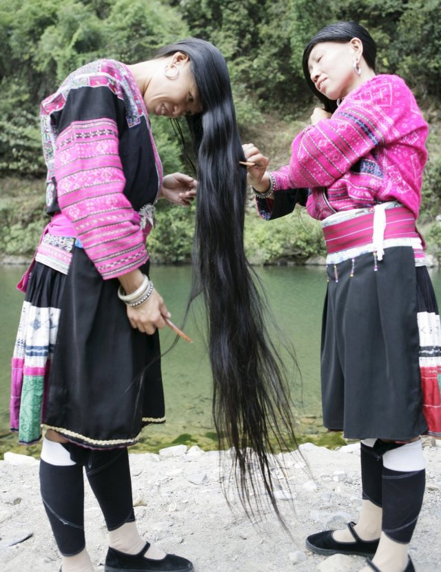 long hair yao women china