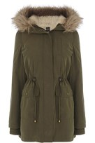Oasis Ellie Faux Fur Lined Parka