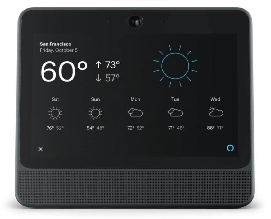 Facebook Portal reconnaissance vocale Alexa intégrée