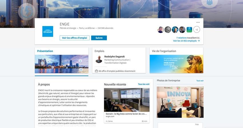 LinkedIn Page Entreprise Engie