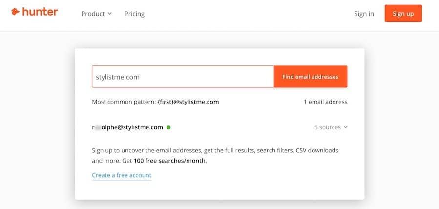 outil gratuit recherche email